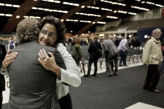 Met 'dissident' Kathleen Ferrier na het CDA-congres