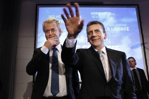 Wilders met René Stadtkewitz in Berlijn, oktober 2010. Stadtkewitz was recent uit de CDU gezet vanwege zijn sympathie voor Wilders