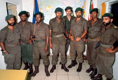 De leden van de Nationale Militaire Raad vlak na de staatsgreep. Foto: ANP