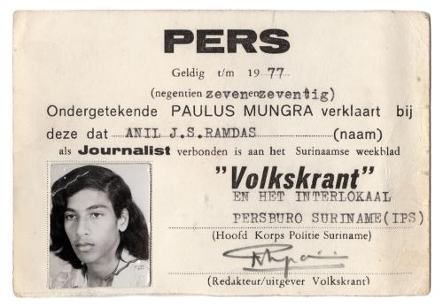 1977: Eerste schreden als journalist.