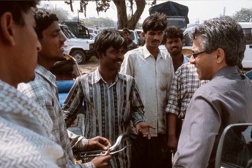 Als NRC-correspondent in India waar Ramdas zich eenzaam voelde. Fotocredit: Fred van Dijk
