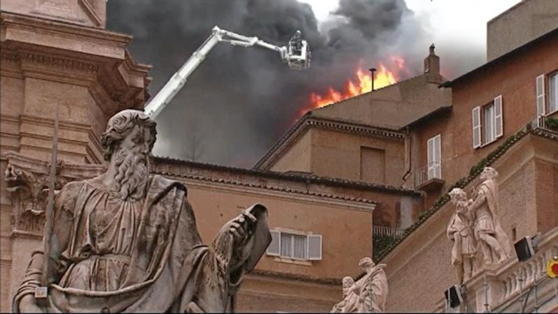 LuckyTV in actie: boven het Vaticaan verschijnt rook
