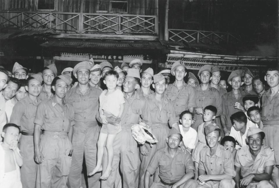 KNIL-eenheid Gadja-Merah, ofwel de 'Rode Olifant Brigade', die vooral bestond uit voormalige Nederlandse krijgsgevangenen. Foto: Beeldbank WO2/NIOD