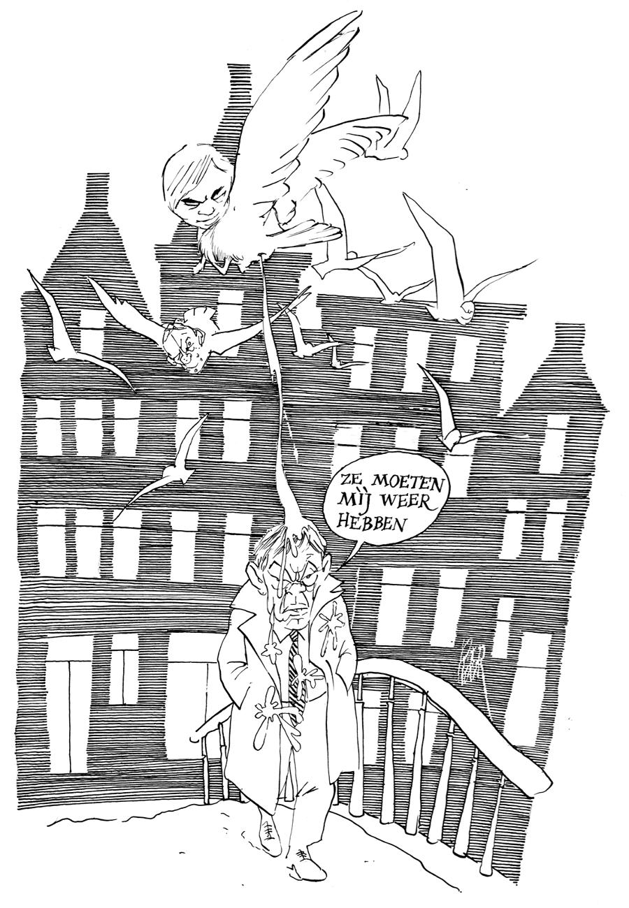 Hans van Mierlo bekende Van Straaten dat hij politieke prenten vreselijk vond. 'Niet alleen als hij zelf getekend werd, maar in het algemeen: hij vond dat je de hoofden van mensen niet zo mocht misvormen. Heel raar.'