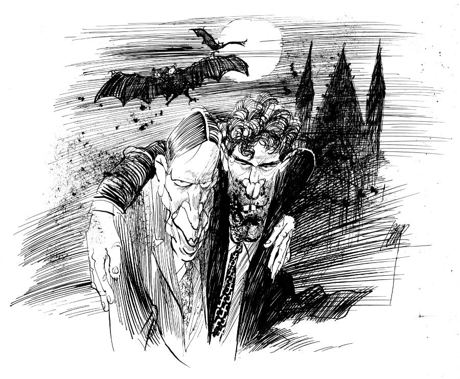 Als je Van Straatens tekeningen uit het tijdperk Van Agt en Lubbers bekijkt, zie je er de tijdgeest in terug. De oudere tekeningen zijn veel woester en donkerder dan het recentere werk. Met name op de twee CDA-premiers kon hij zich uitleven.