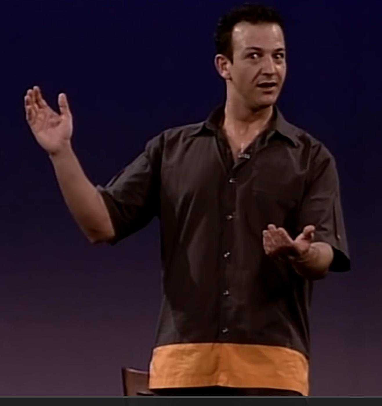 Najib Amhali in het jaar 2000 tijdens zijn theatershow Veni Vidi Vici