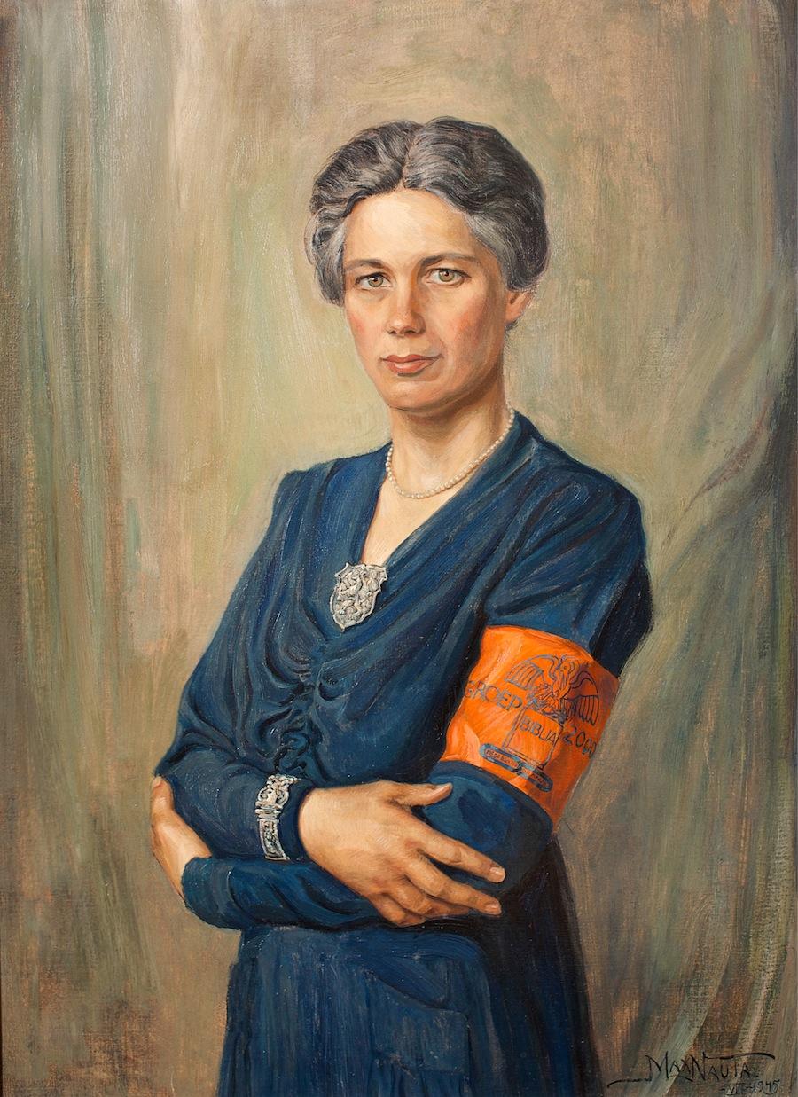 Jacoba van Tongeren in 1945, door Max Nauta