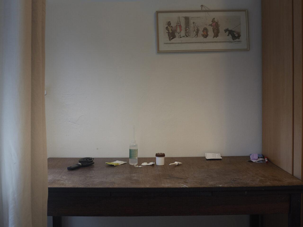 Ali's medicijnen, tijdelijke opvang, gerund door de diaconie, Amsterdam