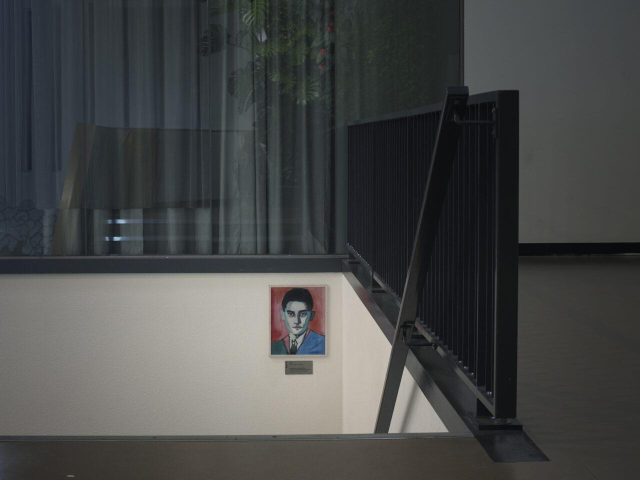 Portret van Kafka, Stadsdeelkantoor, Amsterdam
