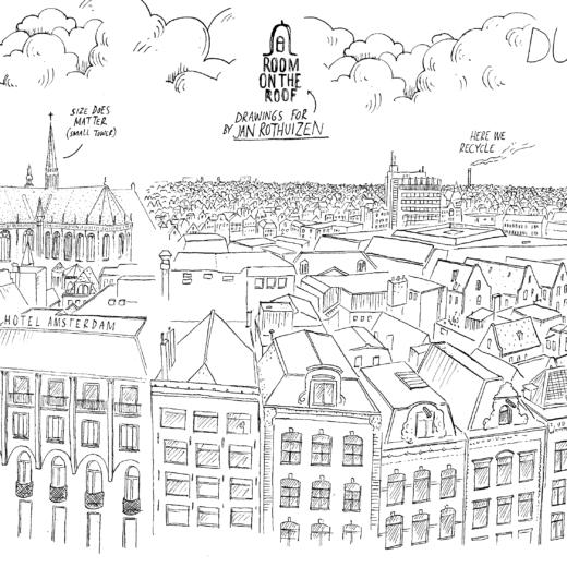 In het Bijenkorf-torentje tekende Jan Rothuizen een virtual-reality animatiefilm