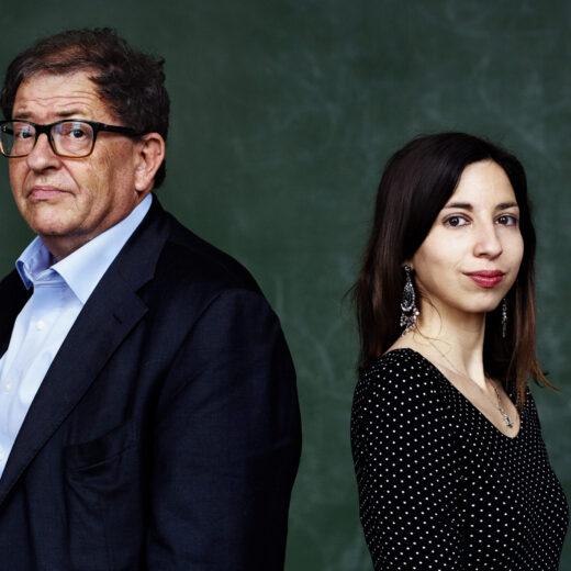 Max en Natascha van Weezel, vader en dochter uit 'tamelijk getraumatiseerd gezin'