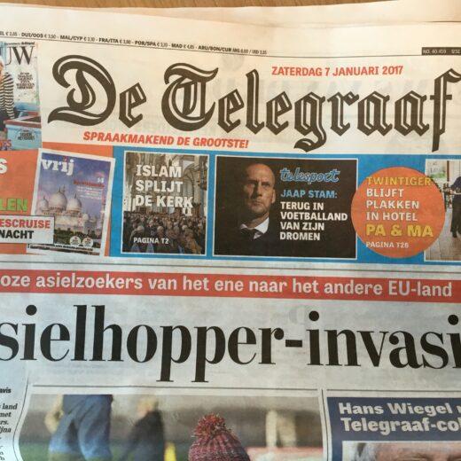 De Telegraaf mag benoemen. Maar dan mag ik het ook