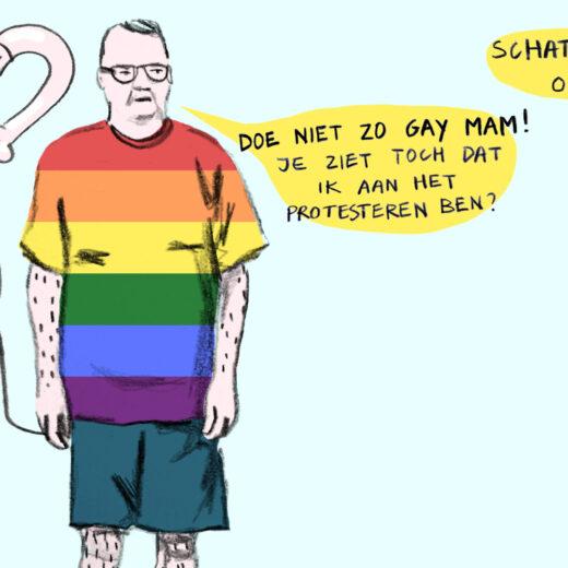 Homo-emancipatie is méér dan geweld tegen homo's veroordelen