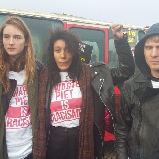 Vanuit de bus met anti-Zwarte Piet-demonstranten zag Alma Mathijsen wat zwarte mensen al wisten
