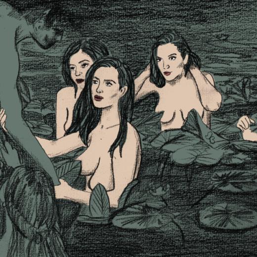 Behandel Kim Kardashian net als de nimfen van Hylas