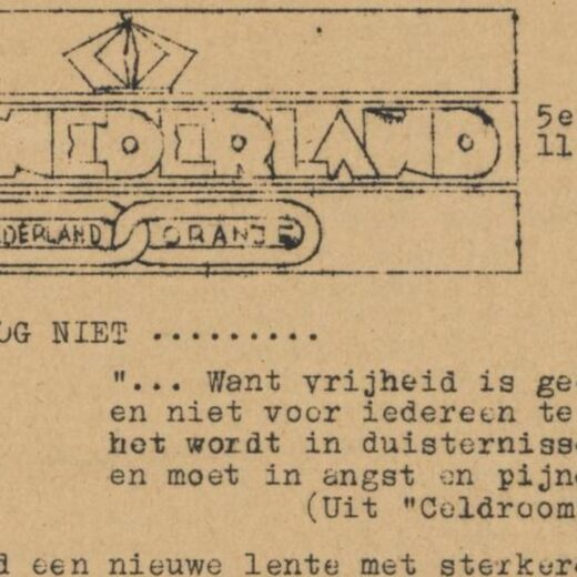 Nog net niet bevrijd: een illegaal nummer van het verzetsblad Vrij Nederland, april 1945
