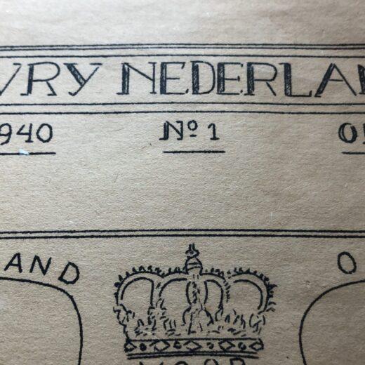 31 augustus 1940: de eerste Vrij Nederland